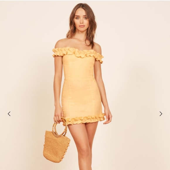 216587ff36 reformation bonita dress lemon size 8